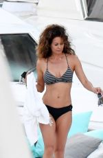 BROOKE BURKE in Bikini on a Yacht in Italy 06/24/2017