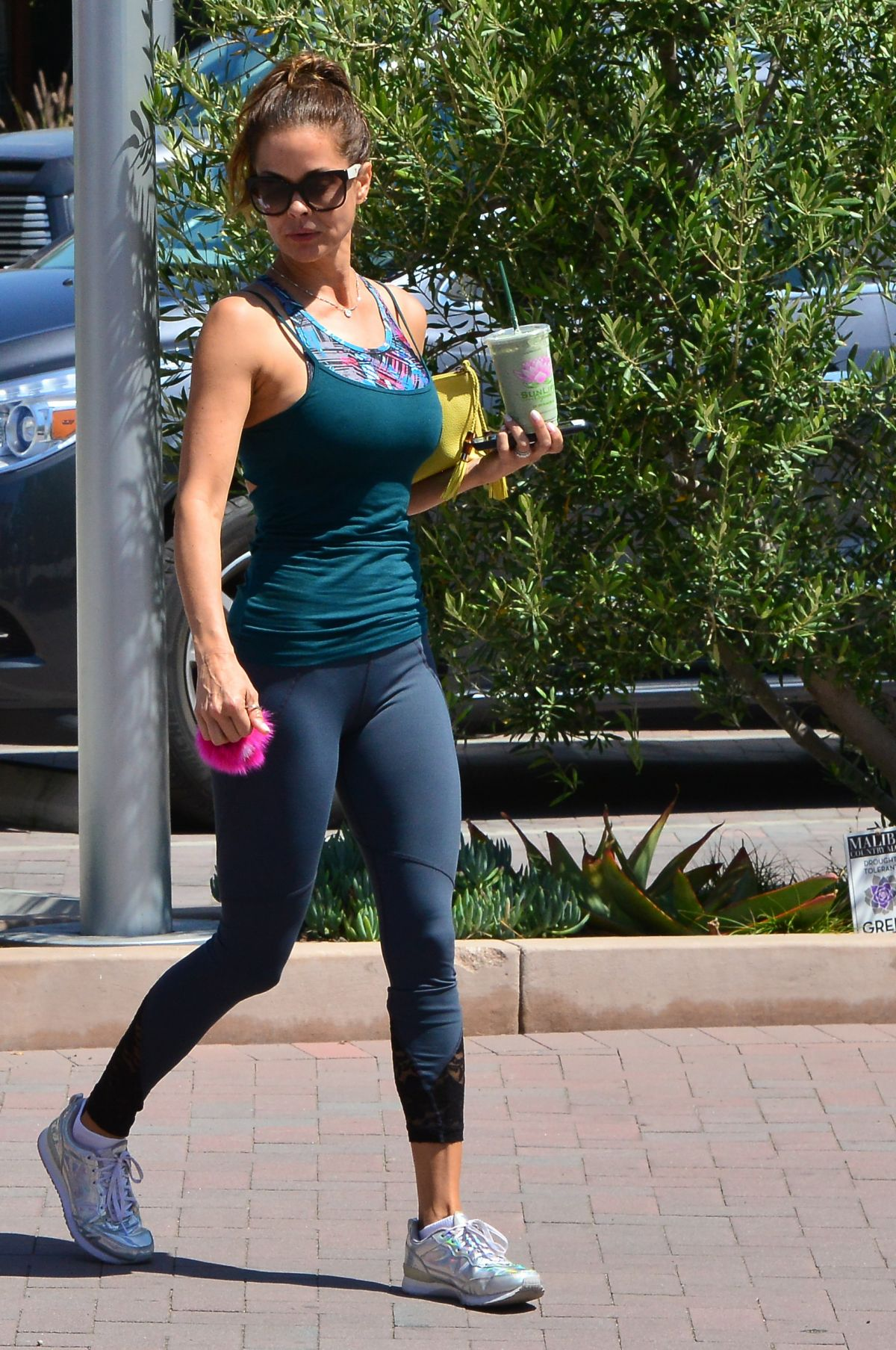BROOKE BURKE in Tights Out and About in Malibu 06/09/2017