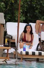 CAM LI in Bikini at a Pool in Miami 06/12/2017
