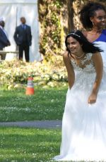 CAMILA MENDES in Wedding Dress on the Set of Riverdale in Vancouver 06/26/2017