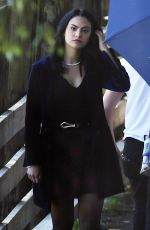 CAMILA MENDES on the Set of Riverdale in Vancouver 06/22/2017