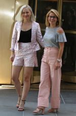 CANDACE CAMERON BURE with Her Daughter NATASHA BURE Leaves Today Show in New York 06/01/2017