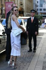 CANDICE SWANEPOEL Arrives at Versace Fashion Show in Milan 06/17/2017