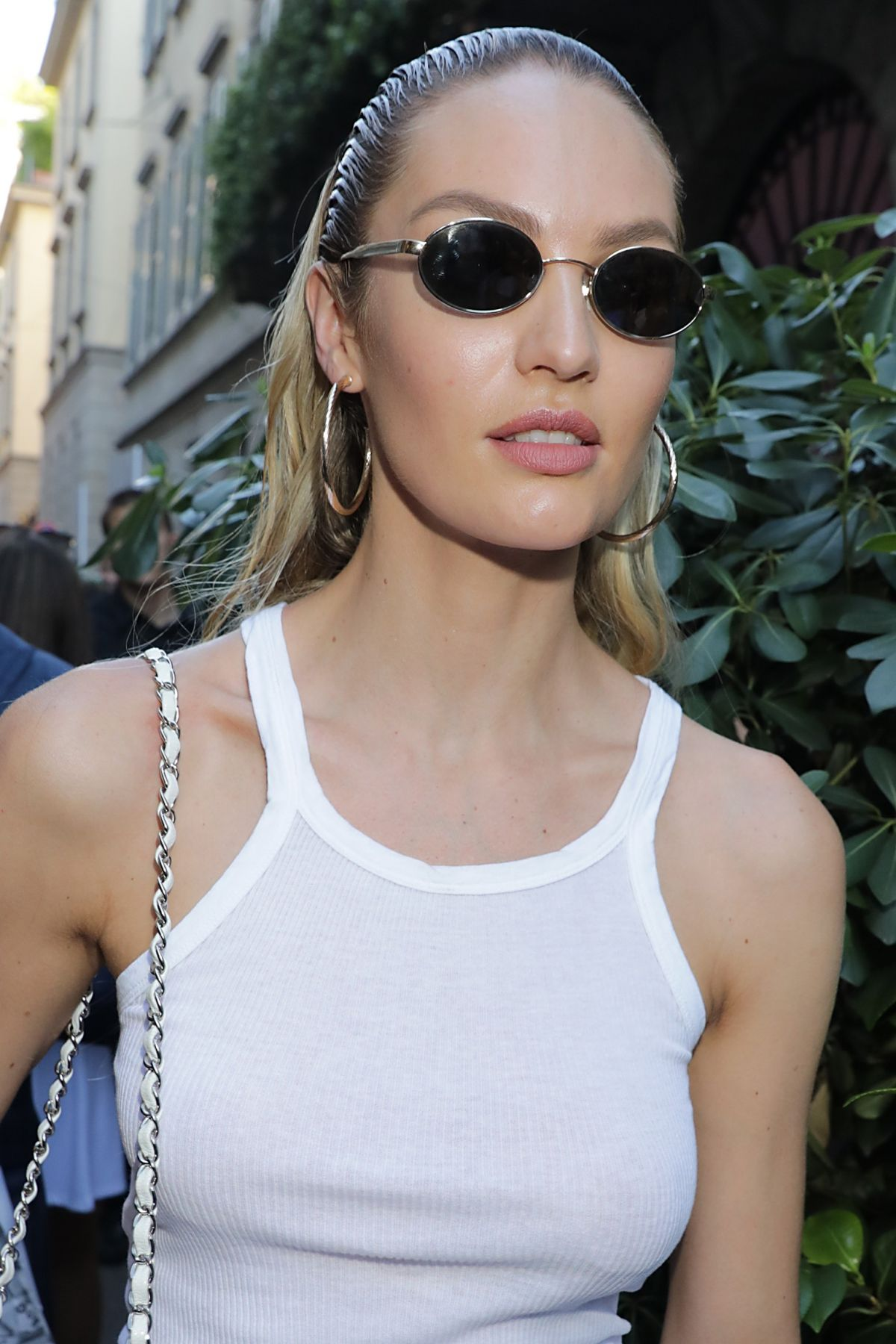 CANDICE SWANEPOEL at Versace Fashion Show in Milan 06/17 ...