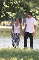 CAROLINE WOZNIACKI and David Lee Out for Lunch at Chalet Des Iles in Paris 06/01/2017