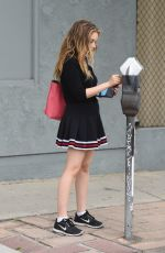 CARSON MEYER in a Cheerleader Outfit Out in Los Angeles 05/31/2017