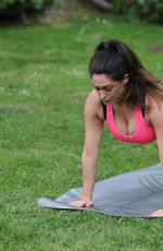 CASEY BATCHELOR at a Morning Workout at Yoga Retreat in Spain 06/24/2017