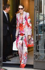 CELINE DION Leaves Her Hotel in Paris 06/14/2017