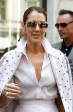CELINE DION Leaves Her Hotel in Paris 06/20/2017