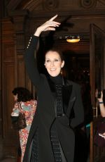 CELINE DION Leaves Opera Garnier in Paris 06/13/2017