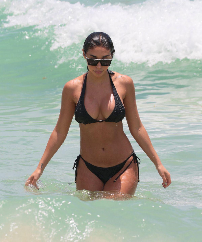 CHANTEL JEFFRIES in Bikini at a Beach in Miami 06/11/2017