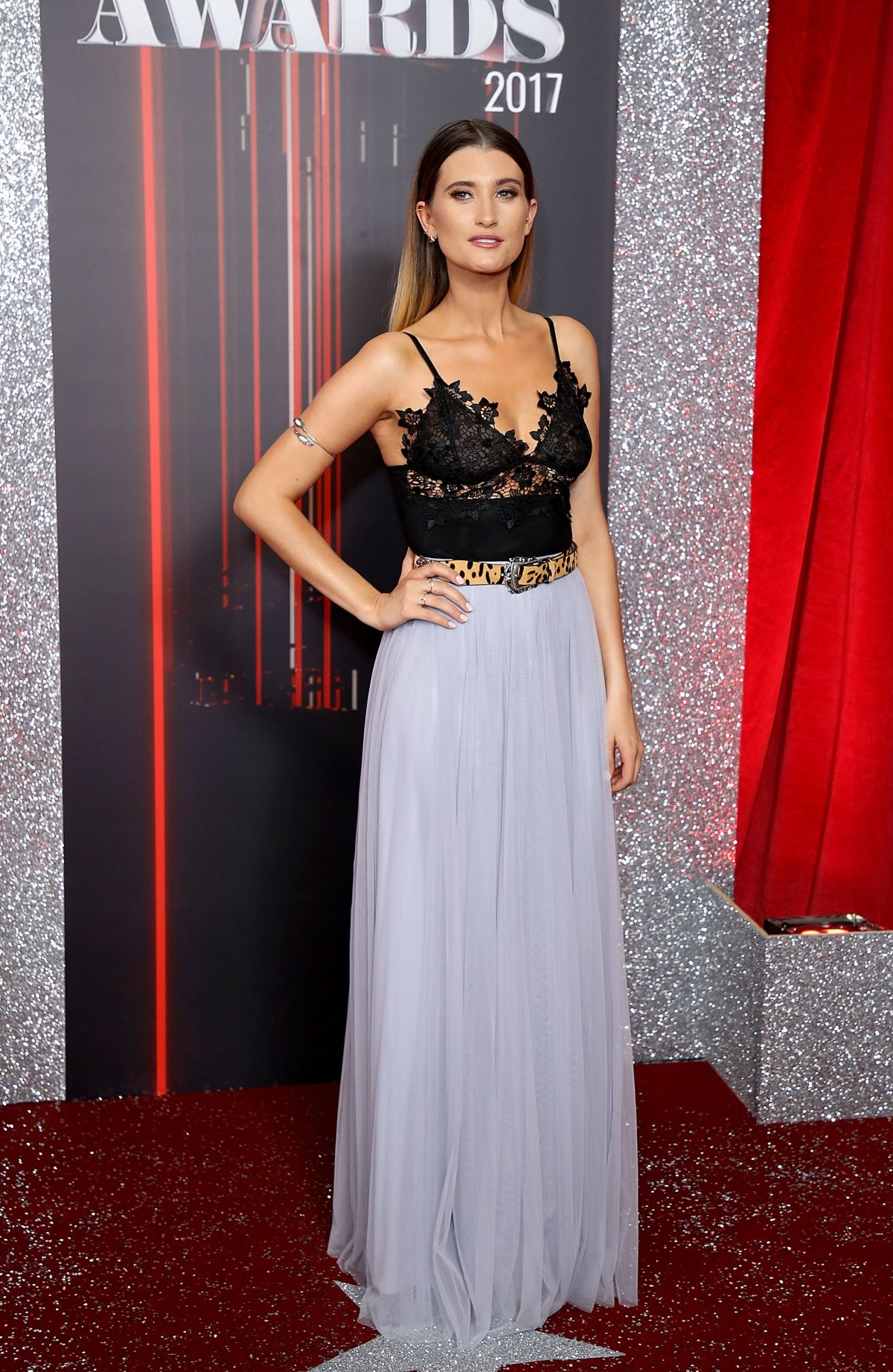 CHARLEY WEBB at British Soap Awards in Manchester 06/03/2017