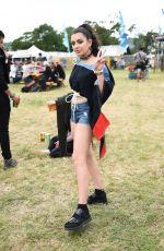 CHARLI XCX Out at Glastonbury Festival in Pilton 06/23/2017