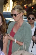 CHARLIZE THERON Out and About in New York 06/25/2017