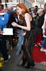CHARLOTTE HOPE at Hamlet Play in London 06/15/2017