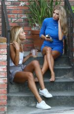 CHARLOTTE MCKINNEY Outside of Her Home in West Hollywood 06/26/2017