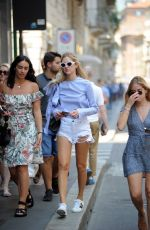 CHIARA and VALENTINA FERRAGNI Out Shopping in Milan 06/17/2017