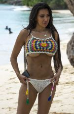 CHLOE KHAN in Bikini at a Beach in Barbados 06/04/2017