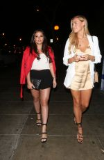 CHLOE MEADOWS and COURTNEY GREEN Leaves Pump Restaurant in West Hollywood 06/24/2017