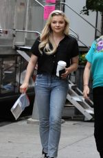 CHLOE MORETZ in Jeans on the Set of Louis C.K. Untitled Project in New York 06/15/2017