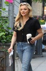 CHLOE MORETZ on the Set of Louis C.K. Untitled Movie Project in New York 06/17/2017