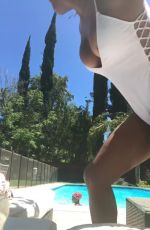 CHRISTINA MILIAN in Swimsuit Takes a Dip in a Pool 06/26/2017 Instagram Pictures