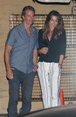 CINDY CRAWFORD and Rande Gerber at Nobu in Malibu