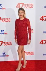 CLAIRE HOLT at 47 Meters Down Premiere in Los Angeles 06/12/2017
