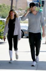 CORINNE OLYMPIOS and Jordan Gielchinsky Out for Lunch in Los Angeles 06/17/2017
