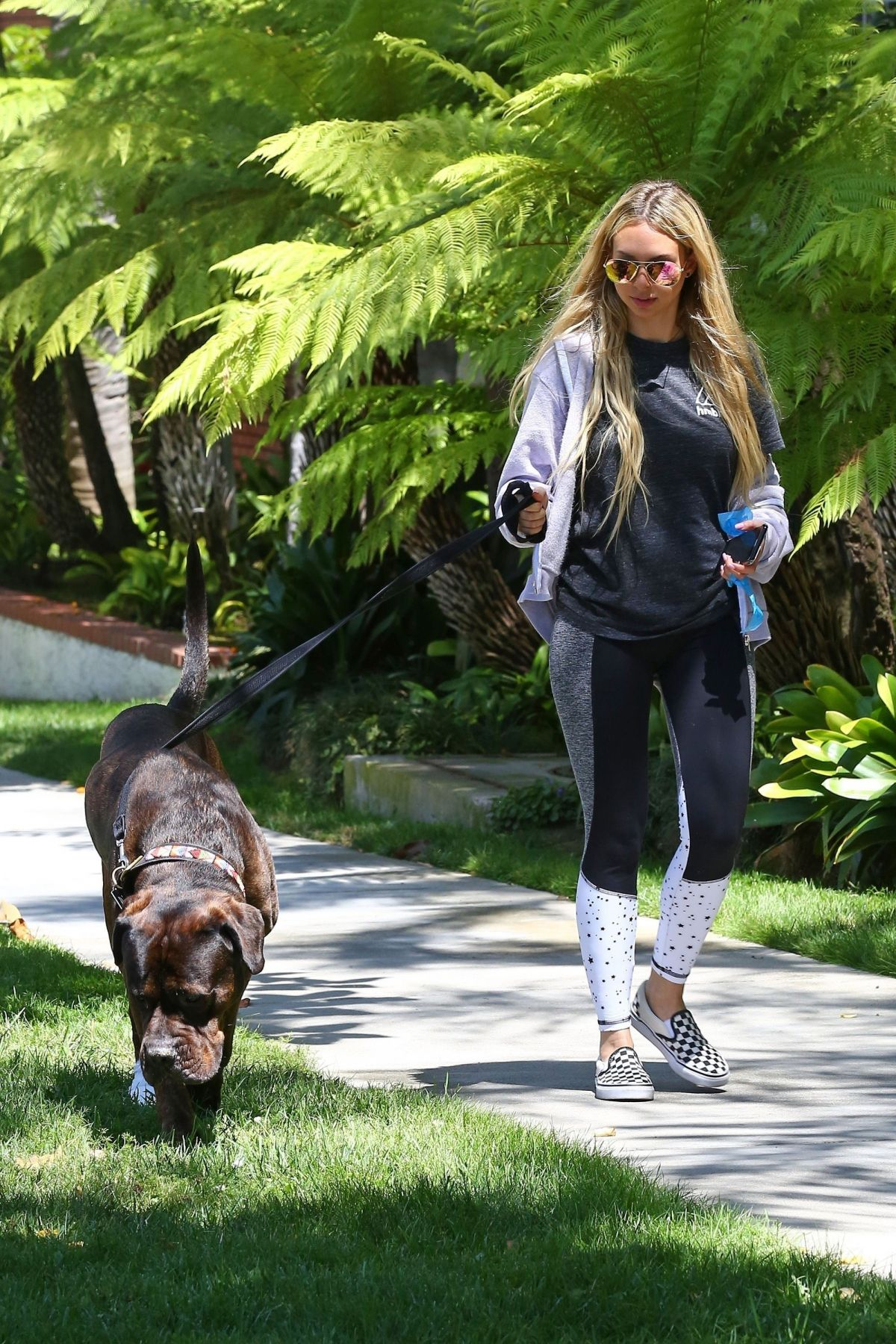 CORINNE OLYMPIOS Out with Her Dog in Los Angeles 06/17/2017