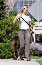 CORINNE OLYMPIOS Walks Her Dog Out in Los Angeles 06/15/2017