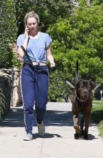 CORRINE OLYMPIOS Walks Her Dog Out in Los Angeles 06/15/2017