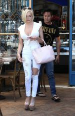 COURTNEY STODDEN Out for Lunch at Little Next Door in West Hollywood 06/21/2017