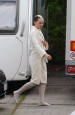 DAISY RIDLEY on the set of Ophelia Movie in Krivoklad 06/04/2017