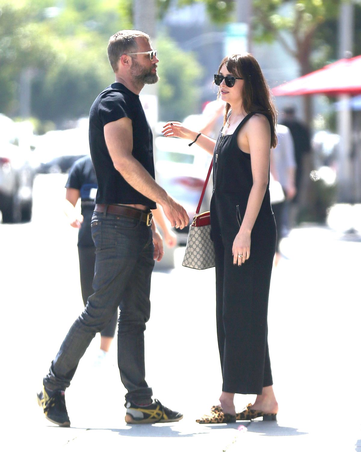 DAKOTA JOHNSON Out with a Friend in West Hollywood 06/15/2017
