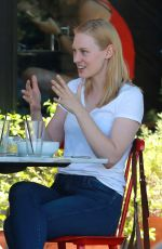 DEBORAH ANN WOOL Out for Lunch in Hollywood 06/21/2017