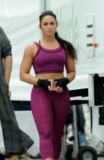 DEMI LOVATO on the Set of a Fabletics Commercial in Los Angeles 06/06/2017