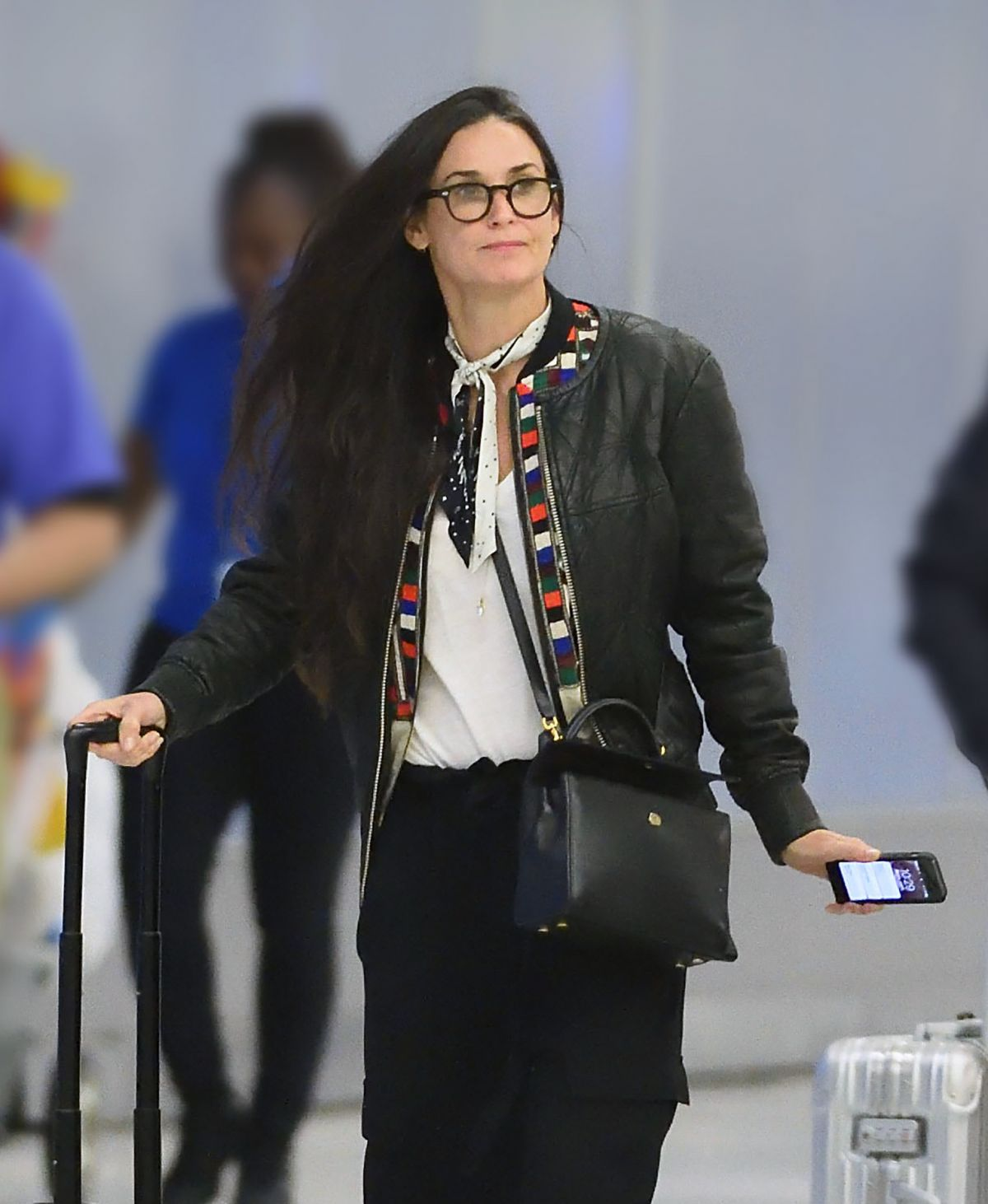 DEMI MOORE at JFK Airport in New York 06/10/2017