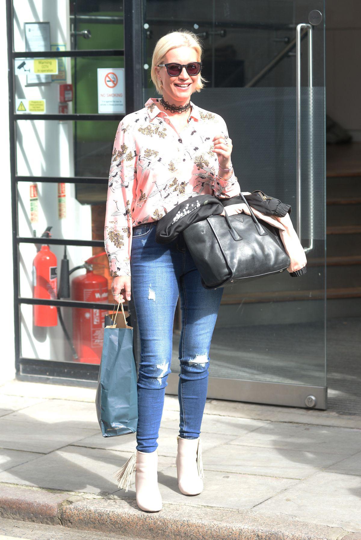 DENISE VAN OUTEN Leaves AOL Studio in London 06/07/2017
