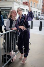 DUA LIPA Arrives at BBC Radio 1 in London 06/02/2017