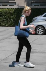 ELLE FANNING Arrives at a Gym in Los Angeles 06/10/2017