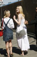 ELLE FANNING Arrives at Jimmy Kimmel Live in Hollywood 06/19/2017