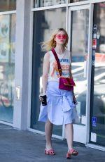ELLE FANNING at El Pollo Loco in Los Angeles 06/27/2017