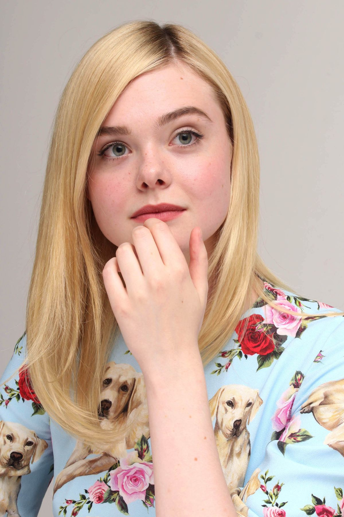 ELLE FANNING at The Beguiled Press Conference in Beverly Hills 06/13/2017