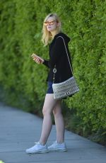 ELLE FANNING Heading to a Gym in Los Angeles 06/14/2017