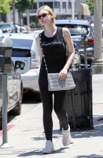 ELLE FANNING in Tights Out in Los Angeles 06/13/2017