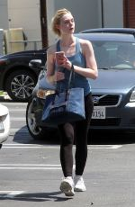 ELLE FANNING Leaves a Gym in Los Angeles 06/09/2017