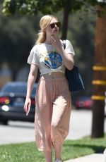 ELLE FANNING Out and About in Los Angeles 06/26/2017