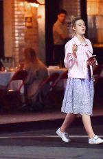ELLE FANNING Out for Dinner in Los Feliz 06/13/2017