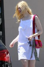 ELLE FANNING Out for Lunch in Los Angeles 06/28/2017